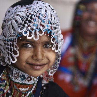 Bambina della casta kalbelia